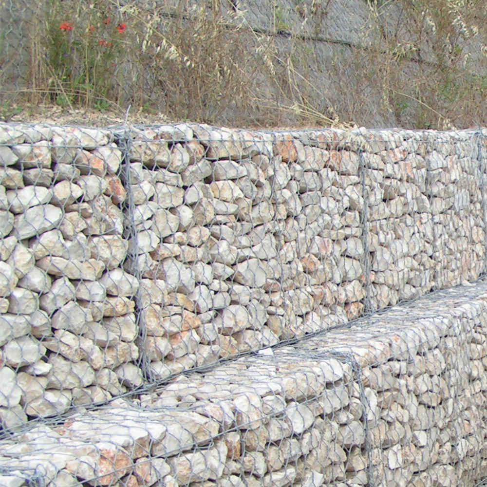 Zinc5% Aluminum Mischmetal Alloy Welded Wire Gabions With Spiral Binders,Lacing Wire And Stiffeners,Conform To A 856