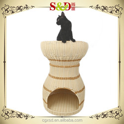 S.D Pet Products rattan wicker furnitures of house for dog house