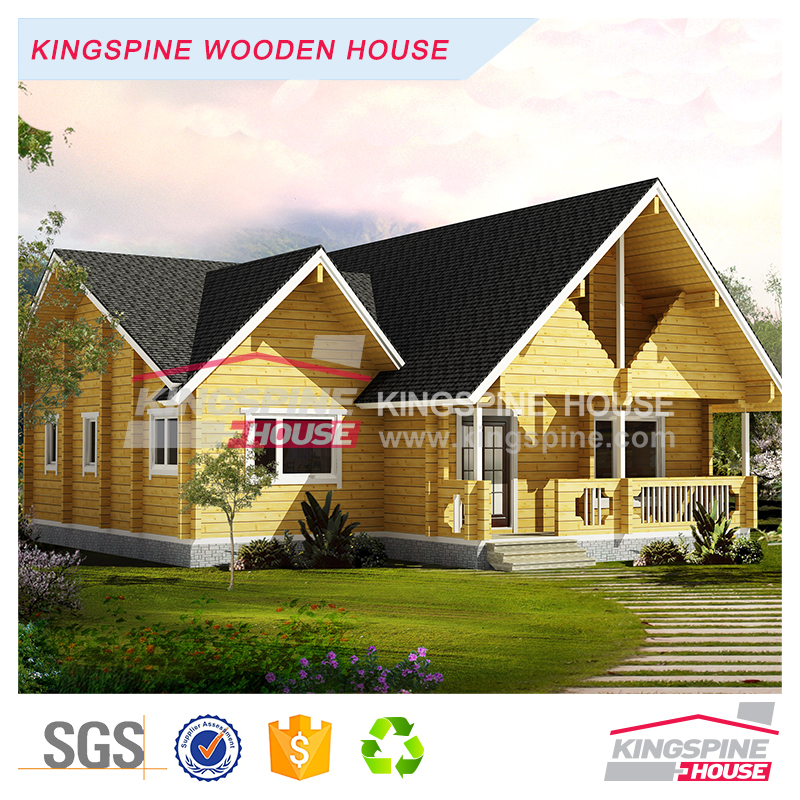 Economic luxury villa design wooden house/log cabin/villa