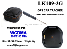 Mini wcdma 3g gps tracker 50X50X15mm Support Android IOS App Kids GPS Tracker--LK109-3G