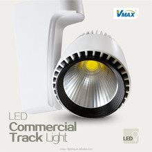 commercial aluminium&glass&plastic led track light with 2years warranty