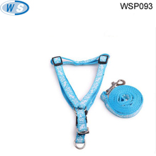 Multi-color Nylon and Polyester Genuine Dog leash ang collar