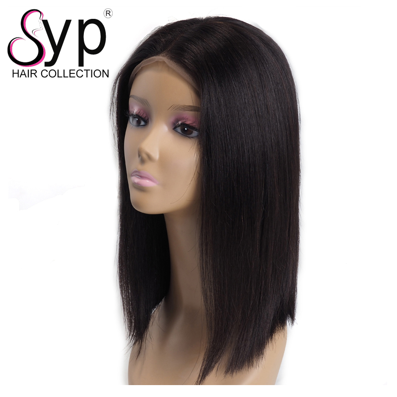 Real 100 Natural Virgin Brazilian Human Hair Bob Lace Front Wigs Extensions Products For Afro Caribbean Hair