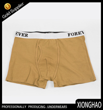 Various solid color cotton simple design boxer underwear with competitive price