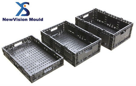 2013 Newly Designed Foldable Injection Plastic Fruit and Vegetable Crate Mould