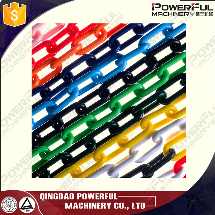 Coloured Black White 6mm 12mm 3mm Plastic Chain