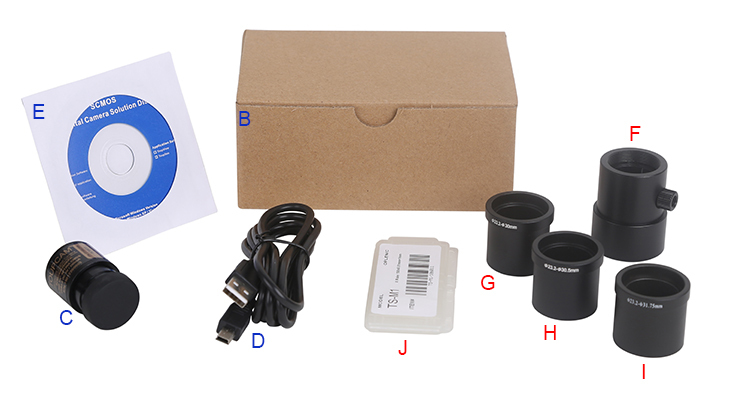 SCMOS Series USB2.0 CMOS Microscope 23.3mm Eyepiece Camera