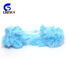 100 polyester fiber/recycled polyester staple fiber from pet bottle used for soft toys raw materials and spinning yarn