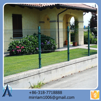 Long Life Water-proof PVC Coated Colourful Triangular Fence Netting For Residental Fences