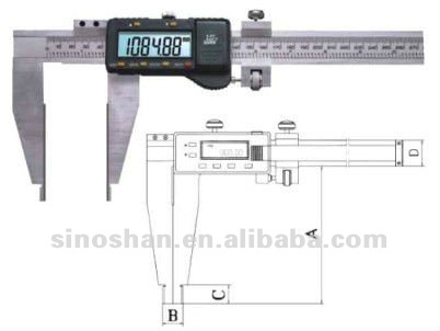 "124-565 0-1000mm/0-40"" LCD Reading New TypeIV Carbide Tipped Measuring Face Digital Vernier caliper"