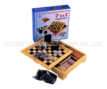 7 in 1 wooden game set,Wooden chess set,