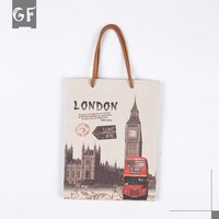 Custom Your Own Logo Printed Shopping Cheap Recycle Logo Printed Brown Kraft Paper Bags With Handles Wholesale