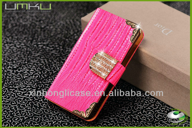 leather flip case cover and leather smart case,book style leather case for iphone 4