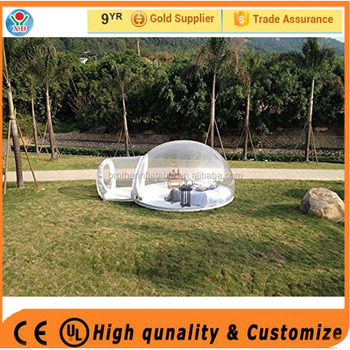 Factory wholesale can customerized inflatable clear dome tent / inflatable bubble tent for rent