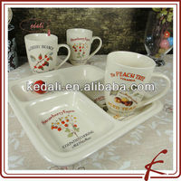 fruit design ceramic dinner serving tray