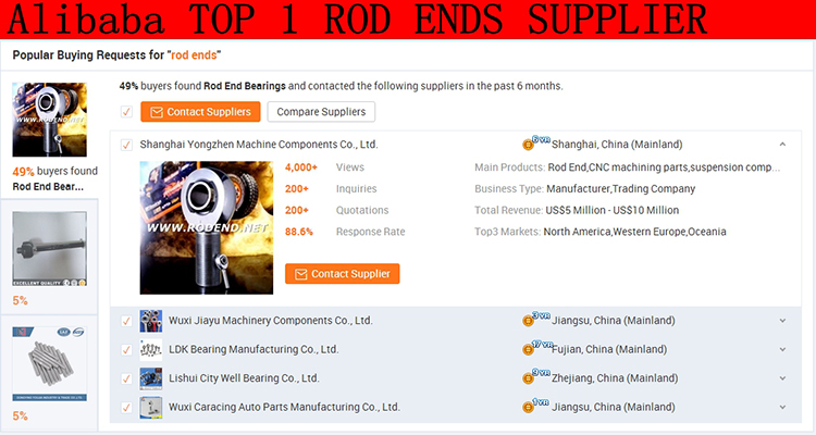 Alibaba top one supplier Heim joint Rod Ends Bearings