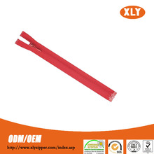 Open end nylon invisible zipper with custom zip pullers for fashion bags and garments