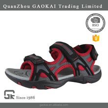 OEM breathable children fancy boys beach kids sandals design with pu upper