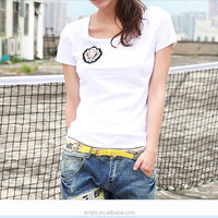custom pure color breathable T-shirt ladies leisure sexy tight top blouse online shopping
