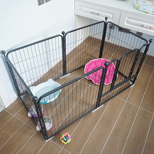 high quality foldable portable black steel wire pet playpen dog pen