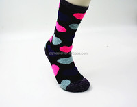 Women Black Fuzzy Socks with Heart Shape Silicon
