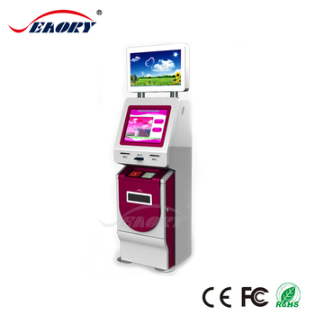 free standing hotel check in kiosk with cash self payment