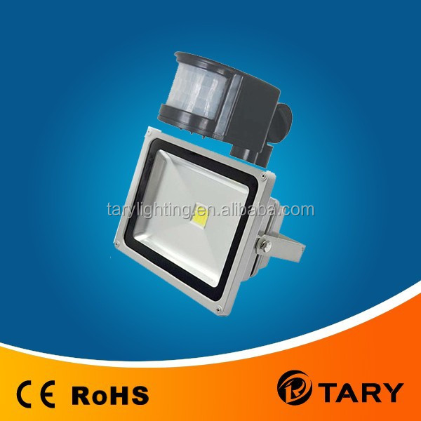 LED Flood light with motion sensor,outdoor LED PIR Flood light 10W/20W/30W/50W