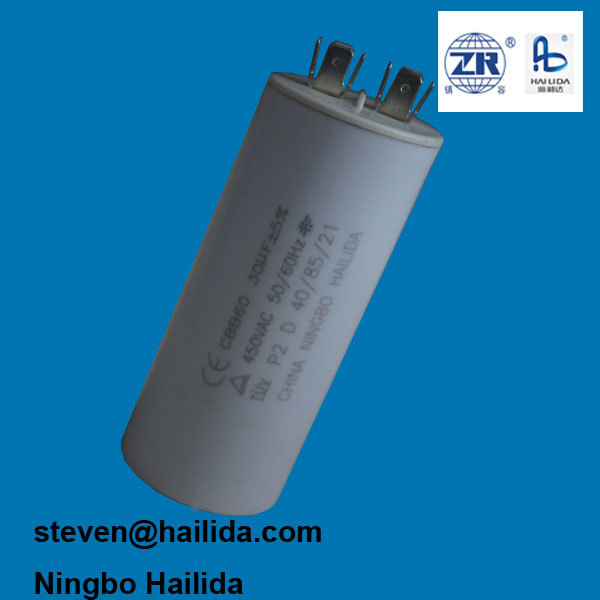 TUV approval sh p2 executar 250v 30mf run capacitor