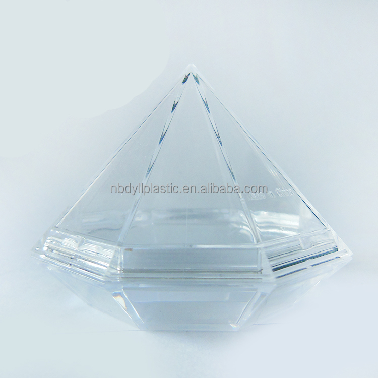 custom plastic injection molding tranparent diamond shape craft, plastic injection product
