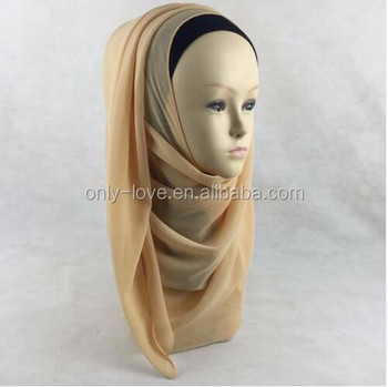 wholesale Chiffon Instant Shawl Wrap Slip on Hijab Plain Scarf Multi Solid Color Islamic Scarves QK019