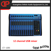 cheap CT120S-usb 12 channel audio mixer DJ MIXER sound mixer mixing console mp3