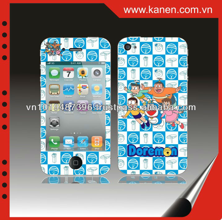 Mobile phone with stickers Doraemon for iPhone 4/4S