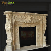Lion head fireplace mantel For Decoration home