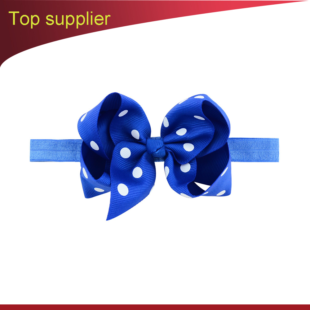 Infantile Girls Solid Cotton Bow Headband Kids 2017 Headband Hair Bows Hair Band Little Girls Headbands Hair Accessories