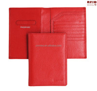 Good quality OEM Genuine Leather Rfid Blocking Passport Holder/passport wallet/cover