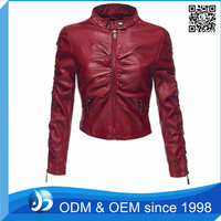 Custom Trendy Style Fancy Leather Jacket for Women