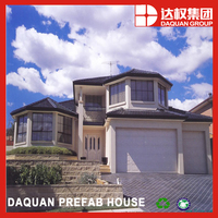 Good sound and heat insulation modern prefab home with wall panel from DQ factory