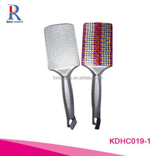 China Rhinestone Crystal Hair Brush Crafts Bristle Brush Material and Ionic Type hair brush