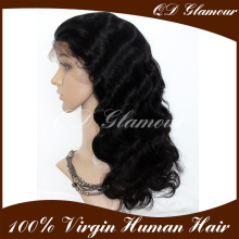 Best Quality Hot Sale Factory Wholesale Cheap 130-150 Density Body Wave Remy Front Lace Wig Human Hair