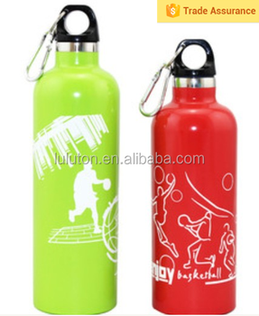 2015 new product design Stainless Steel water bottle wide mouth