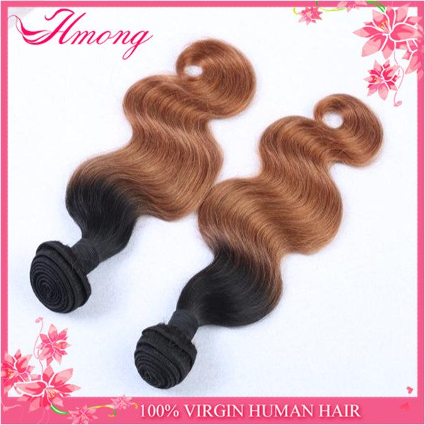 Top Quality Cheap Brazilian Human Hair Sew In Weave Ombre Hair