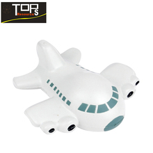 2018 hot sale white plane toy for slow recovery plane shaped stress balls