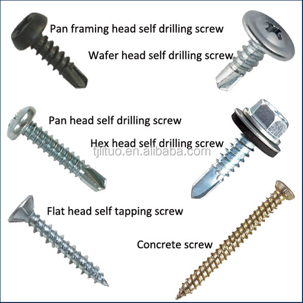 cross recessed pan head drilling screw with wings