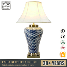 Good Looking Antique Style Blue And White Porcelain Table Light Decorative Ceramic LED Lamp E27