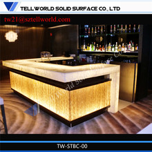 White resetaurant bar countertops/Translucent Bar Counters/Restaurant bar counters for sale