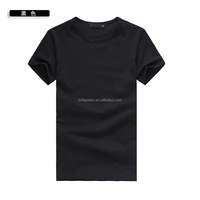Promotional Men high quality 100%cotton plain t shirt wholesale plain dri fit o neck short sleeves t shirt