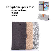 For iphone 6 plus case Zebra pattern Wallet Stand Flip Cell phone case APPLE IPHONE6 5.5inch Smart phone Cover