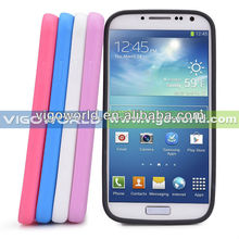 TPU Bumper Frame Clear Transparent PC Back Cover Glow in the Dark Hybrid Case Cover for Samsung Galaxy S4 S IV i9500