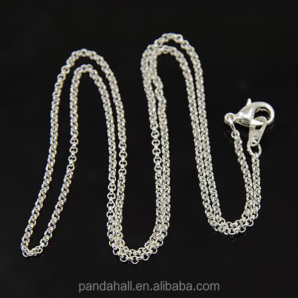 "18.8"" New Design Thin Rolo Chain Necklace for Women(NJEW-D079-<strong>N</strong>)"