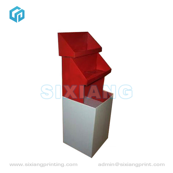 Retail Clothing Store Furniture Corrugated Cardboard Display Shelf